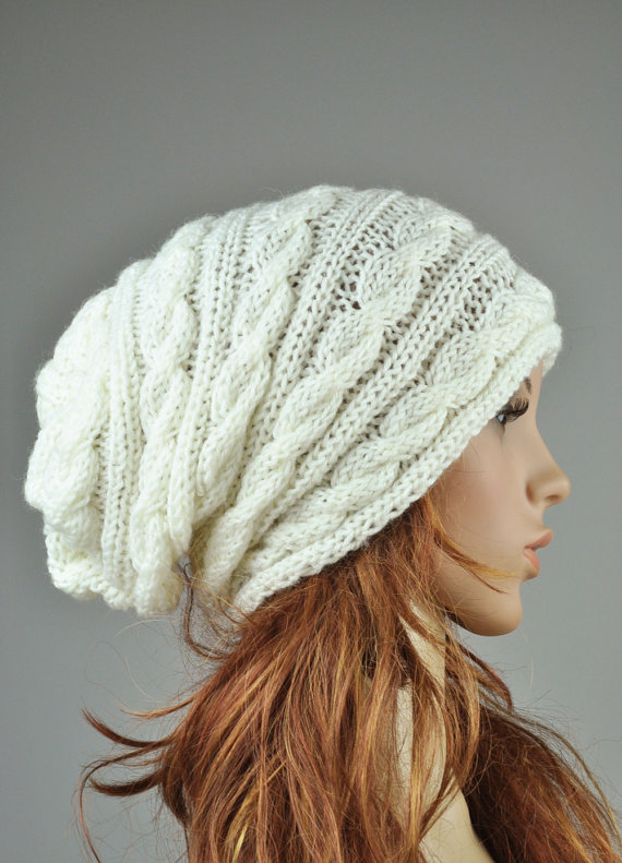 slouchy beanie knit hat