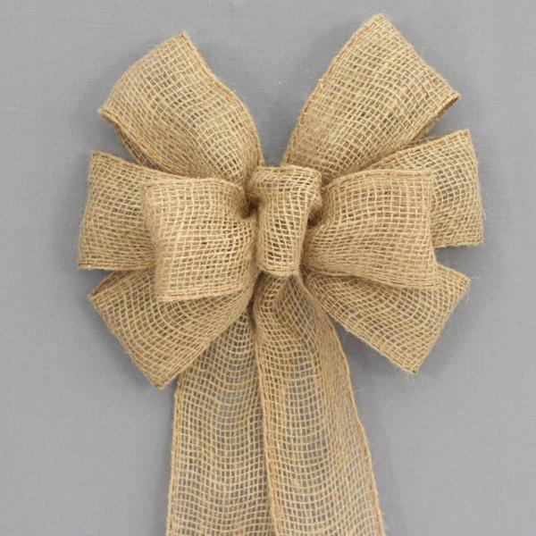 Burlap Bow for Christmas