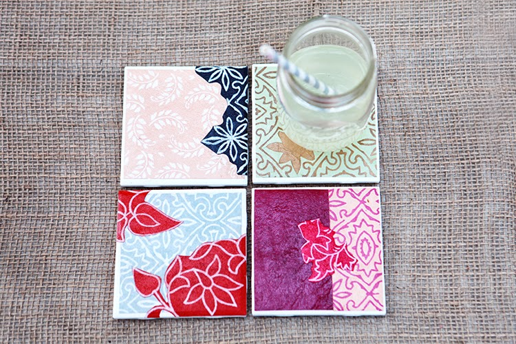 Coasters Made from Tiles