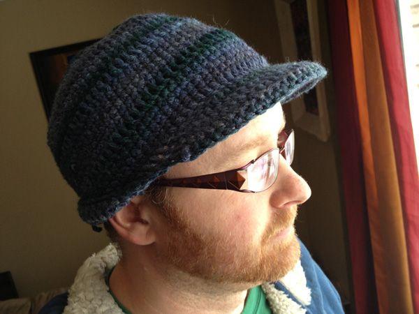 Mens Cable Crochet Hat Pattern
