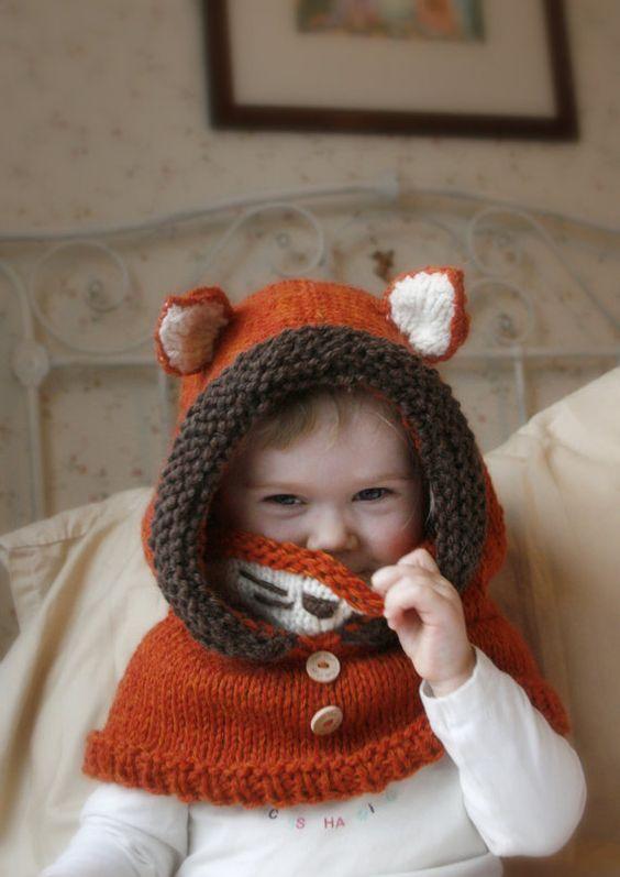 Crochet Hooded Bear Unicorn Cowl with Ears