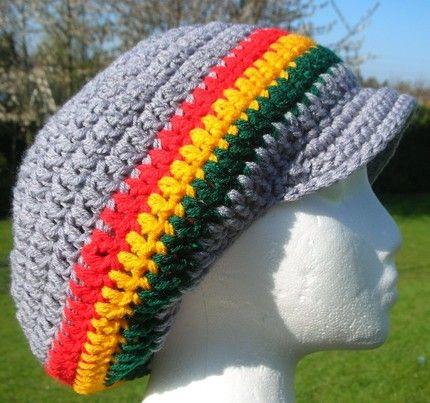 Crochet Pattern For Mens Rasta Hat