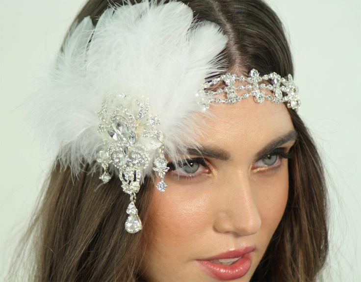 Bridal/Wedding Feather Headband