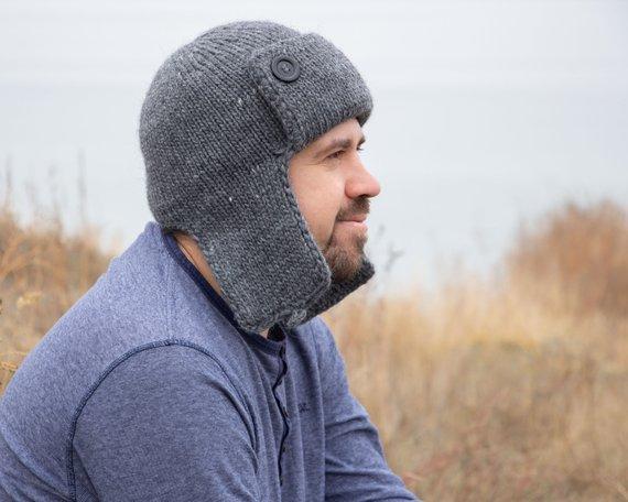 Crochet Mens Hat Pattern with Earflap