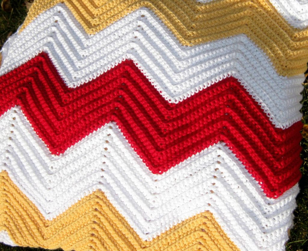 Baby Afghan Crochet Chevron Pattern