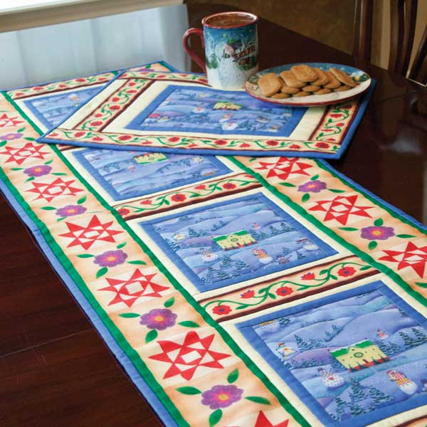 Holiday Table Runner - Easy To Quilt