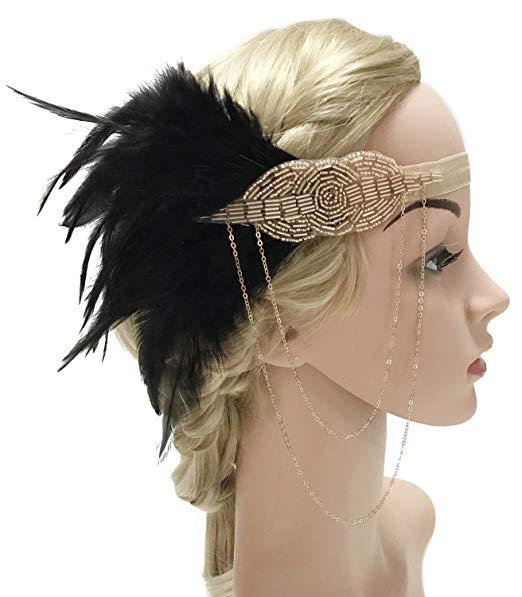 Feather Beaded Headband