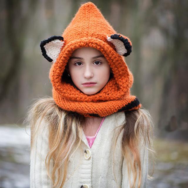 Fox Hooded Cowl Crochet Pattern