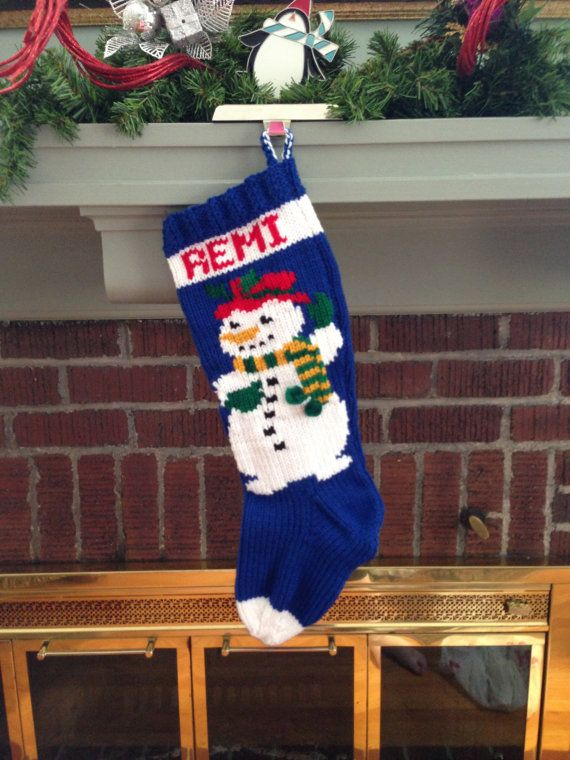 Snowman Crochet Christmas Stocking