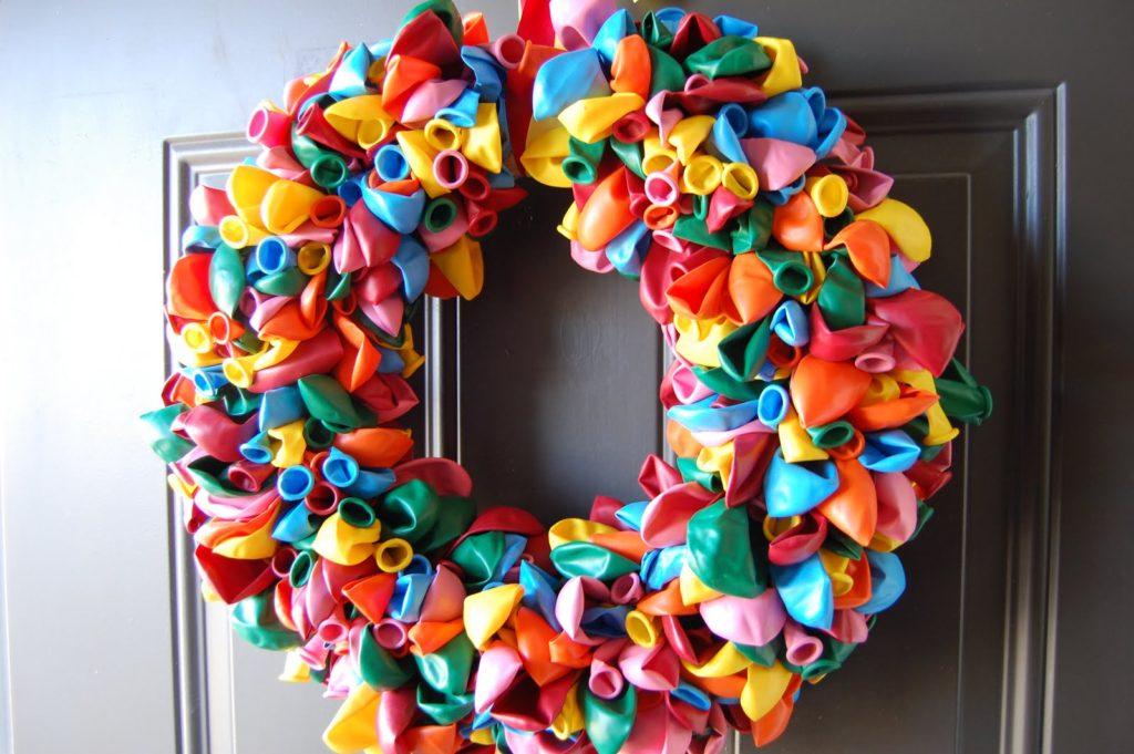 Homemade Balloon Wreath
