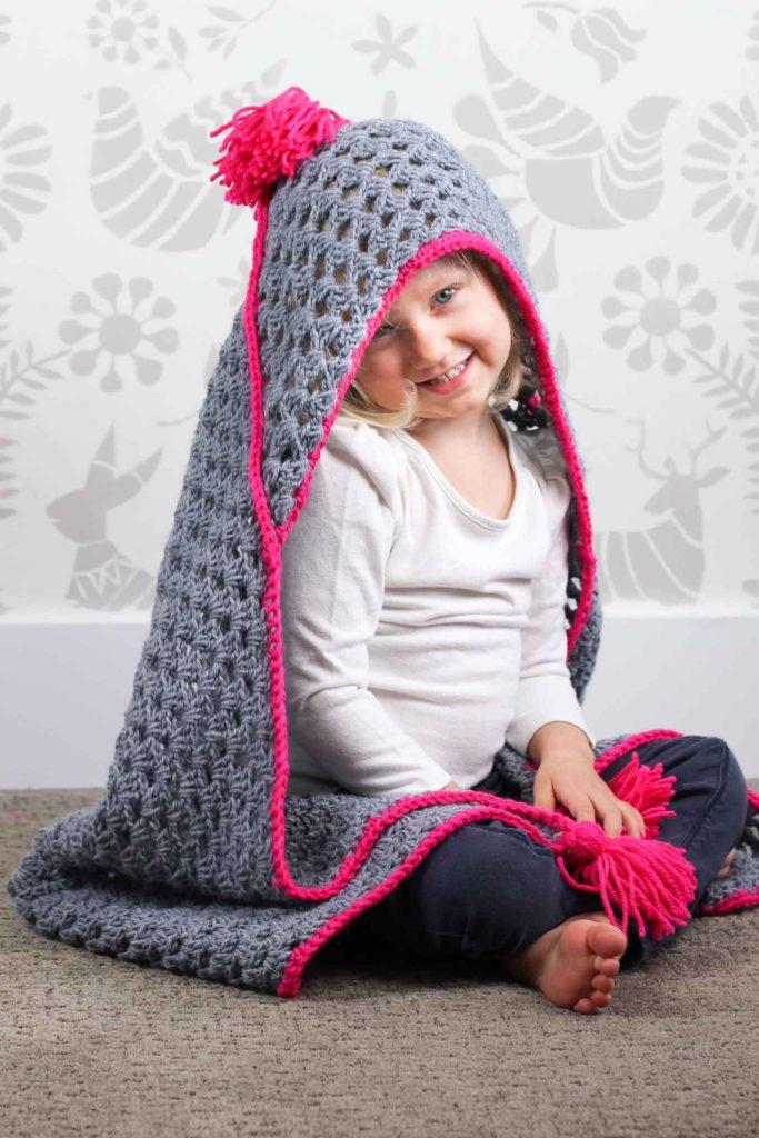 Crochet Hooded Baby Afghan