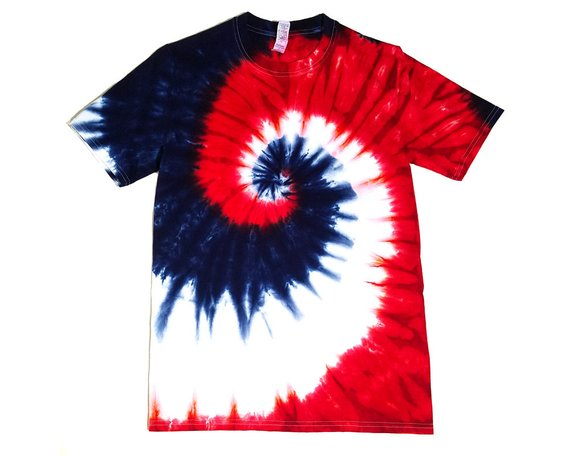 tie dye tshirt patterns red white and blue
