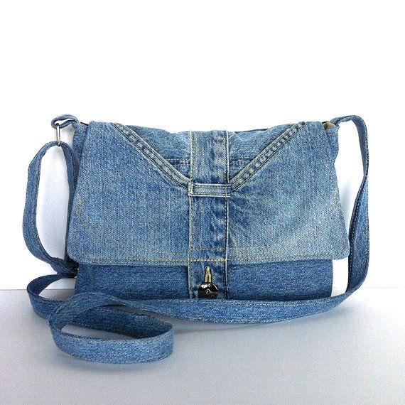 Blue Jean Purse with Designs