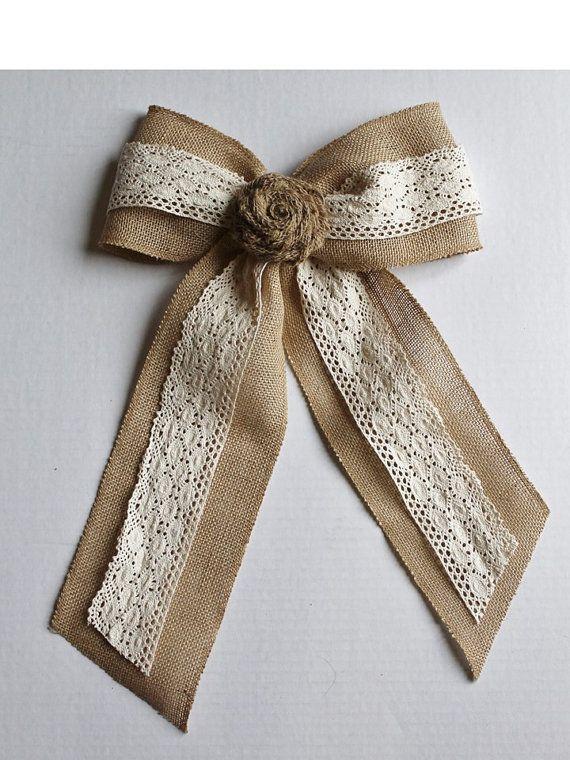 Burlap Lace Bow