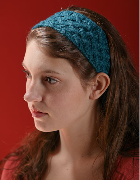 Cool Blue Knitted Headband