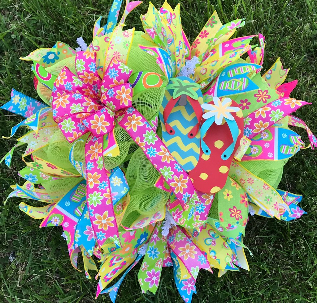 Flip Flop Wreath with Bandana