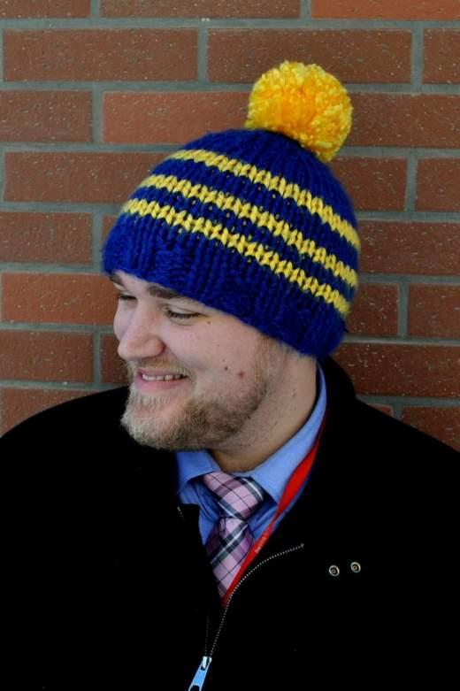 Mens Crochet Hat Easy Pattern Pom Pom