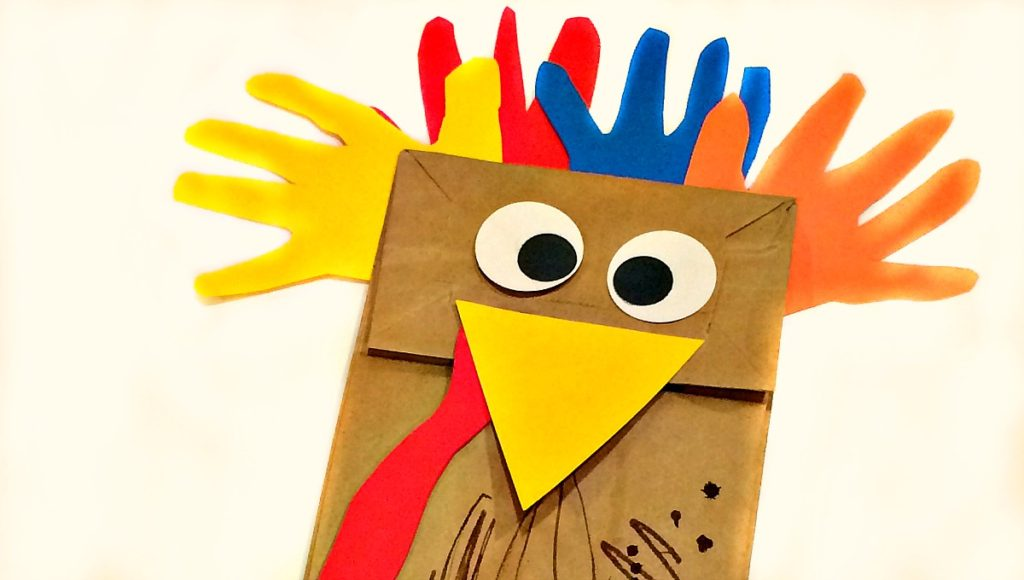 Paper Bag Turkey for Preschoolers