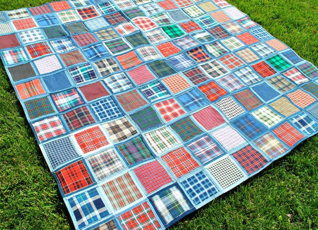 Simple Recycled Denim Quilts