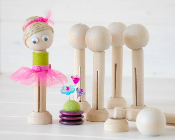 Wooden Clothespin Dolls