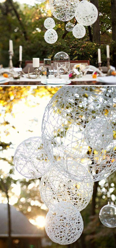 Yarn Ball Lanterns for Wedding