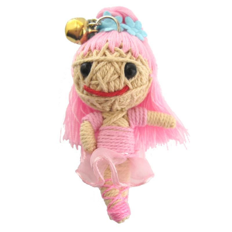 Yarn Voodoo Doll Keychain