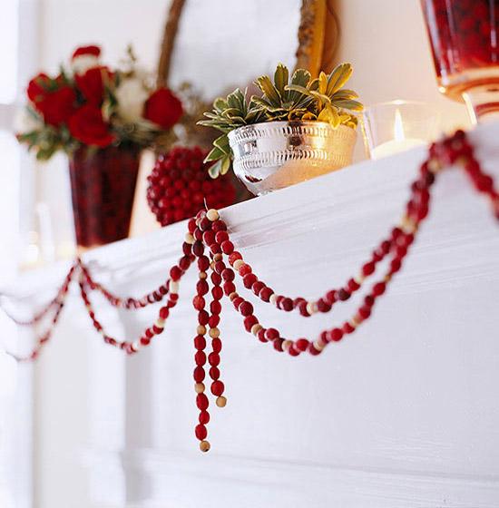 Beaded Christmas Garland