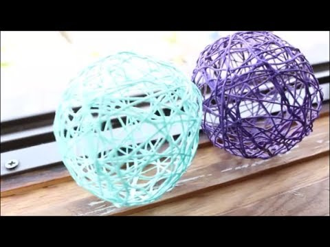Colorful Yarn Lanterns