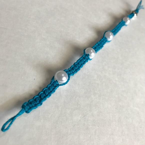 Hemp Bracelet with Pearls