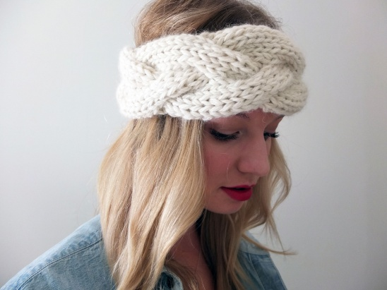 Knitted Braided Headband Pattern
