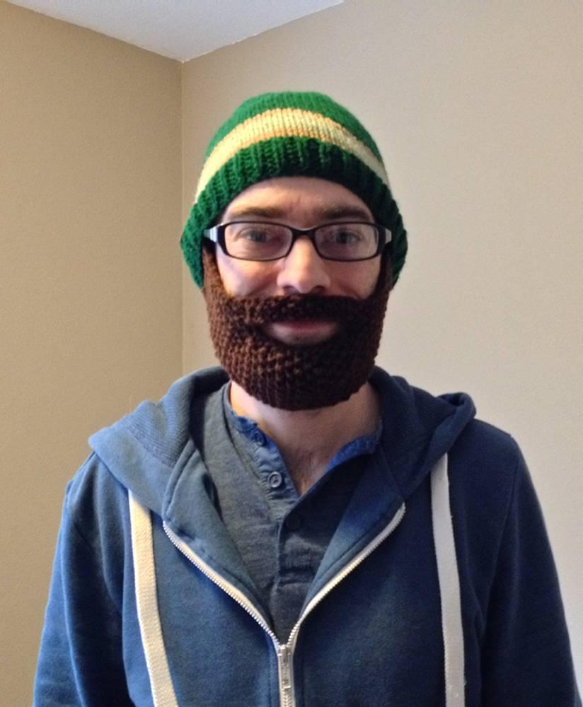 Crochet Beard Hat Knitted