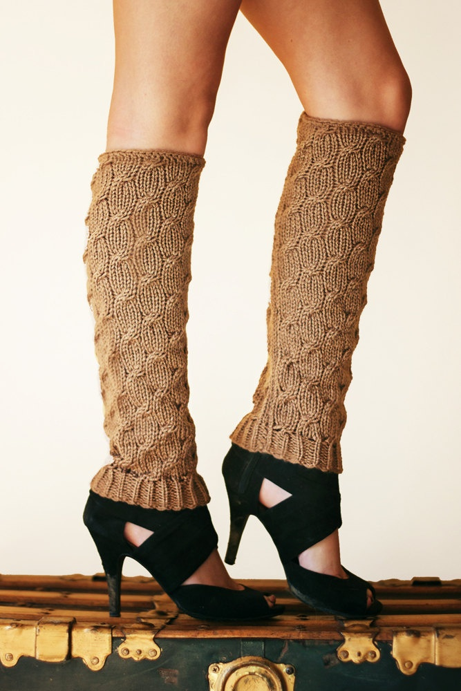 Crochet Cable Leg Warmers Pattern for Boots