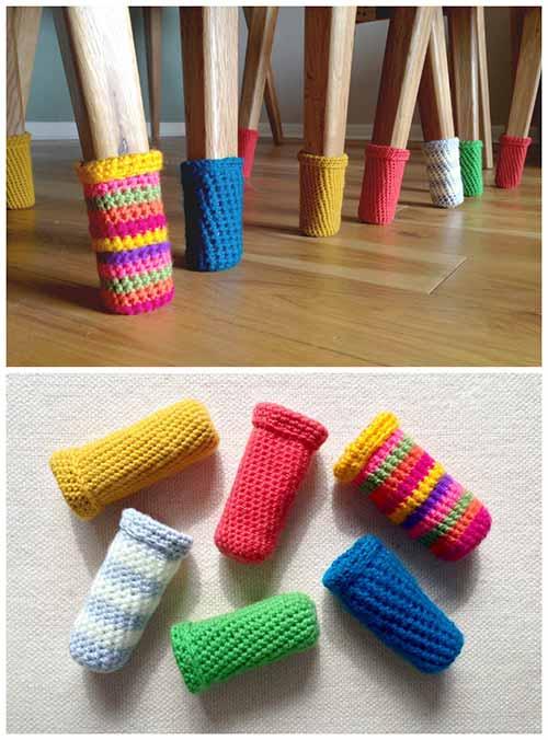 Crochet Chair Leg Warmers