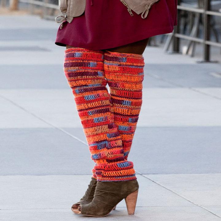 Crochet Leg Warmer with Boots