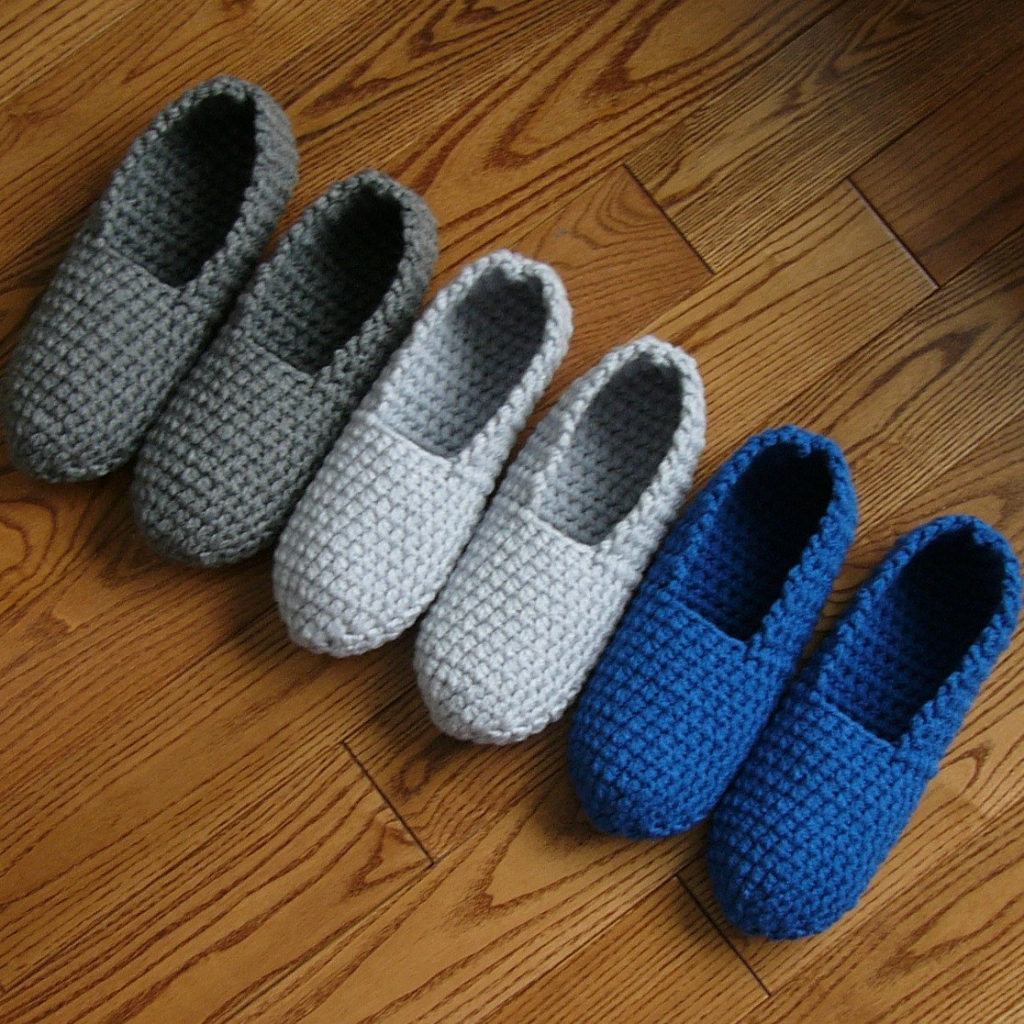 crochet men's slippers