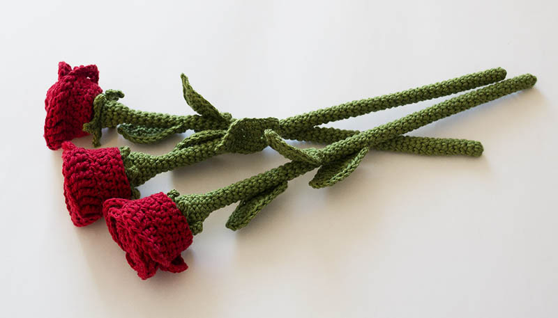 Directions for the Stem of a Crochet Rose