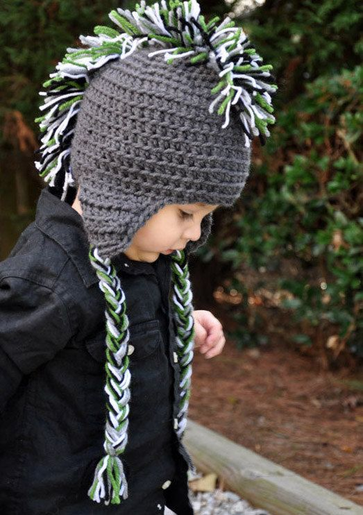 Ear Flap Mohawk Hat Knitting Pattern