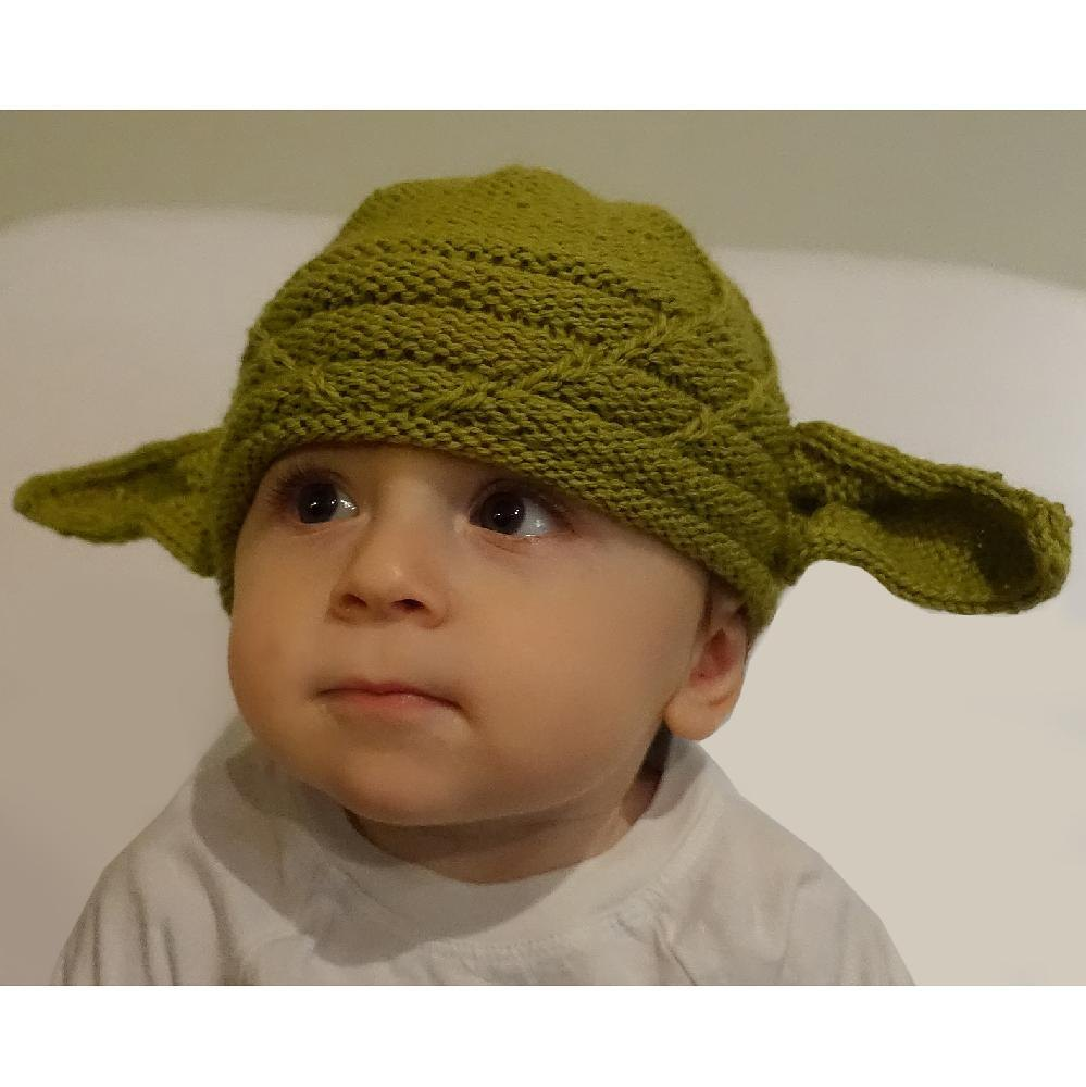 Felted Baby Yoda Hat Knitting Pattern