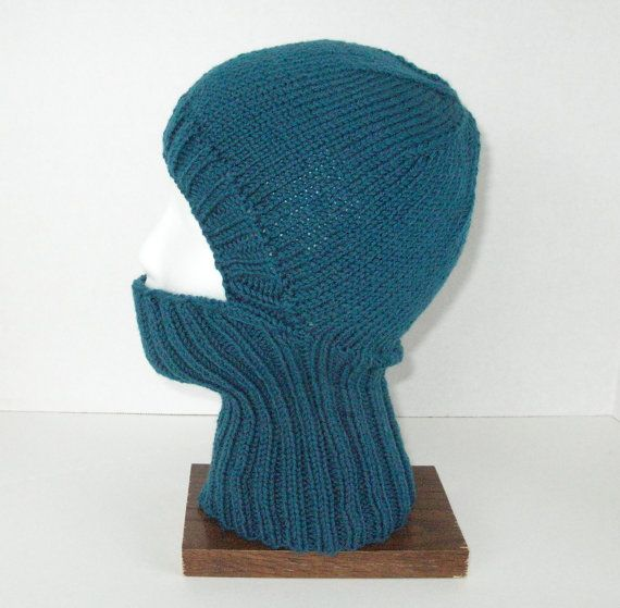 Biker Balaclava Hat Knitting Pattern