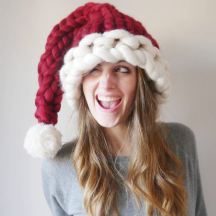 Knitted Santa Pattern Hat