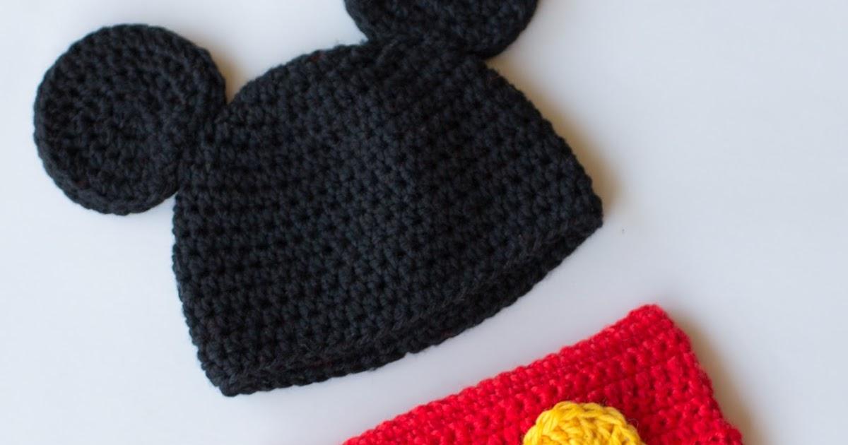 5 Mickey Mouse Knit Hat Patterns - The Funky Stitch