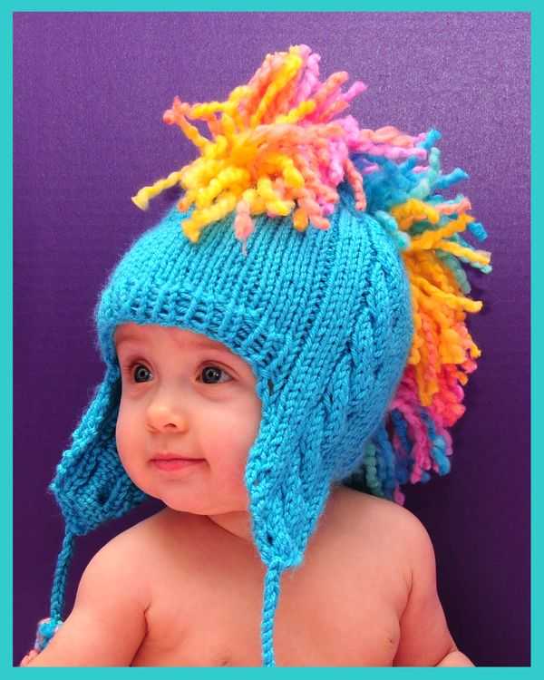 Mohawk Hat Knitting Pattern