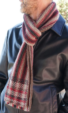 double knit scarf pattern
