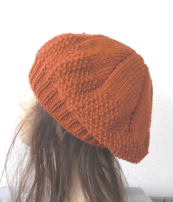 knit beret hat patterns