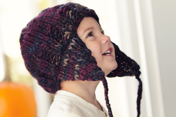 earflap hat knit kids