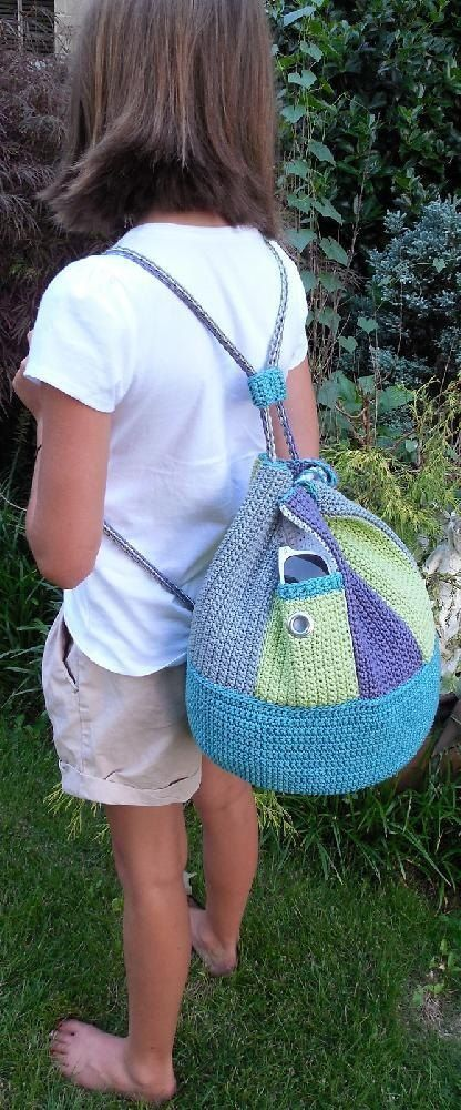Crocheted Swirling Backpack