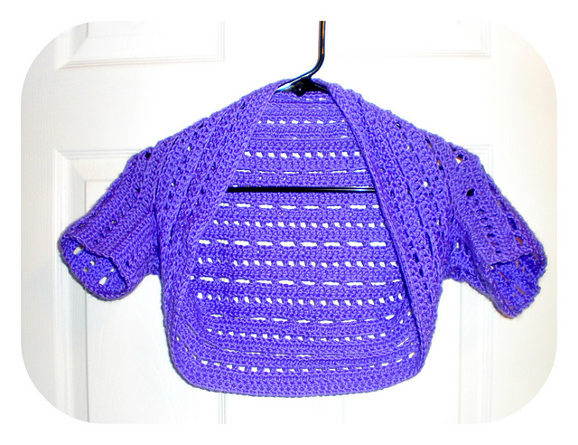 crochet bolero large