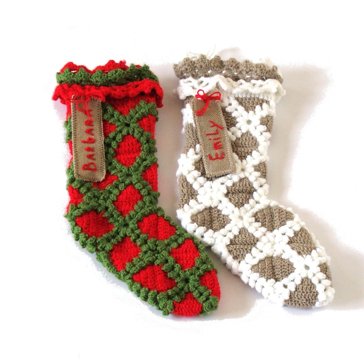 Lacy Crochet Christmas stocking