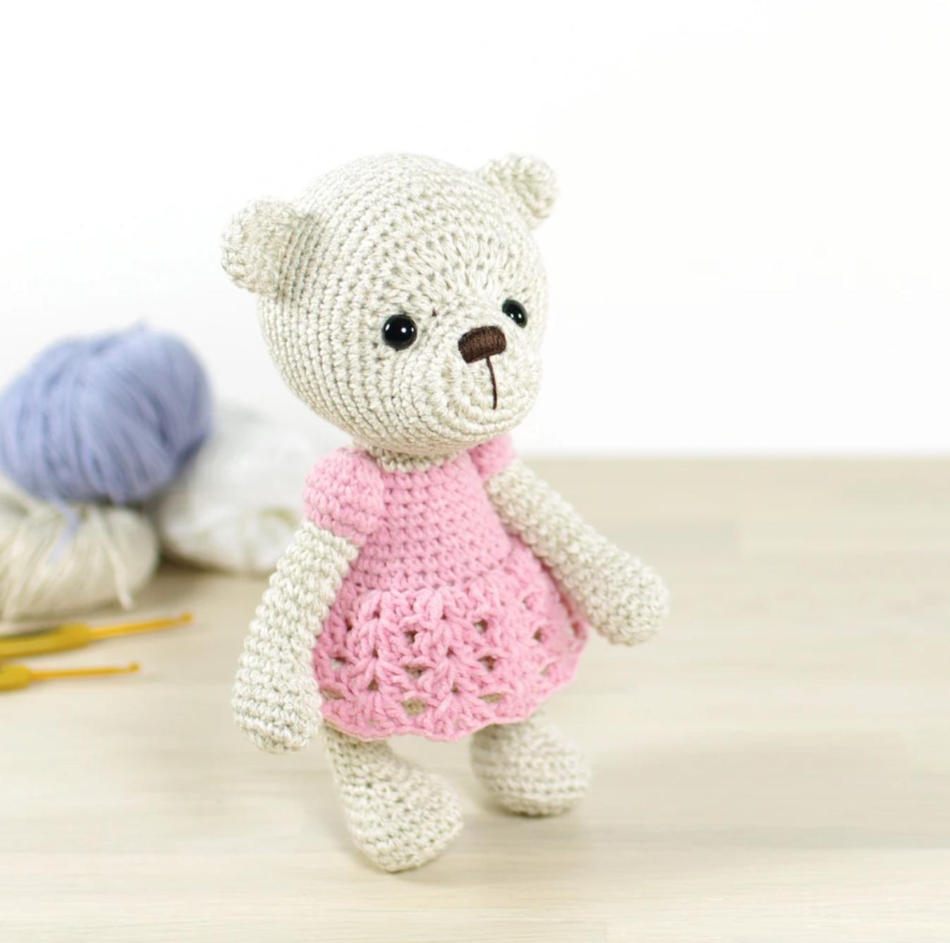 Teddy the little crochet teddy bear