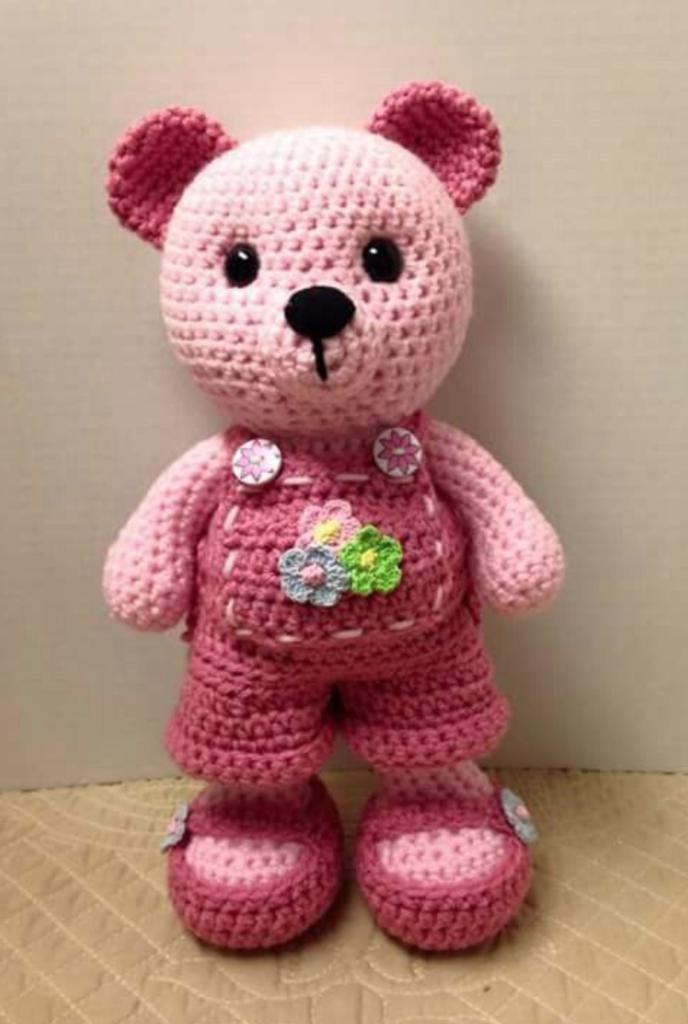 Free Knitting Pattern for a Teddy Bear in Velvet ⋆ Crochet Kingdom | 1024x688